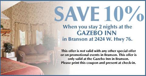 Gazebo Inn Top Quality Cheap Hotel In Branson Mo
